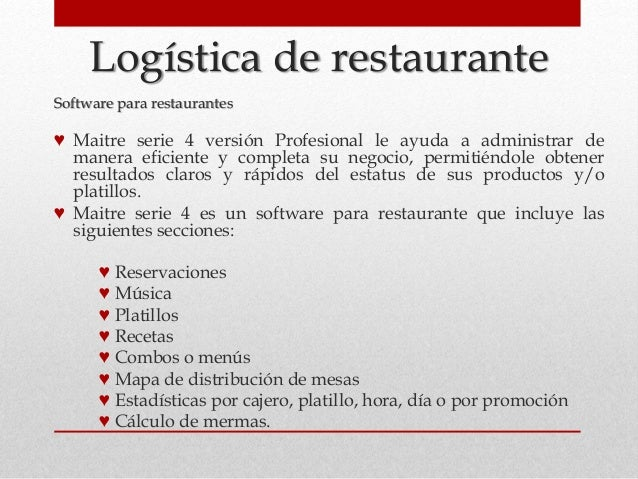 Logistica de un restaurante for Capacitacion para restaurantes pdf