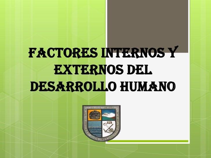 Factores Internos Y Externos De La Memoria
