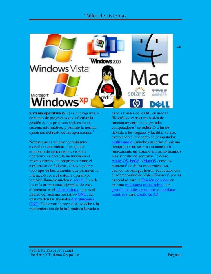 15240-635<br />Un <br />Sistema operativo (SO) es el programa o conjunto de programas que efectúan la gestión de los proce...