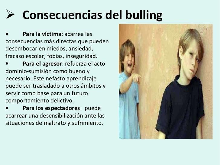 Resultado de imagen para consecuencia  bullying
