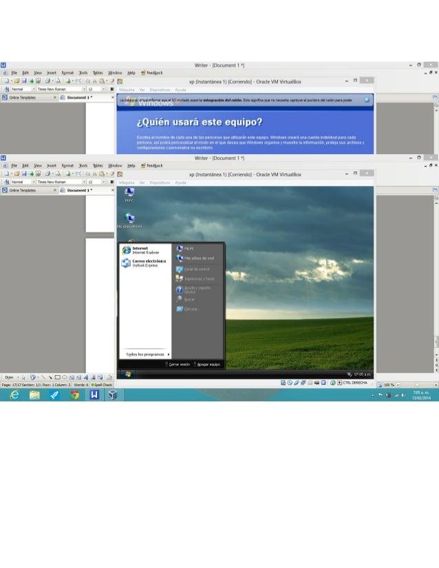 Trabajo de virtualbox