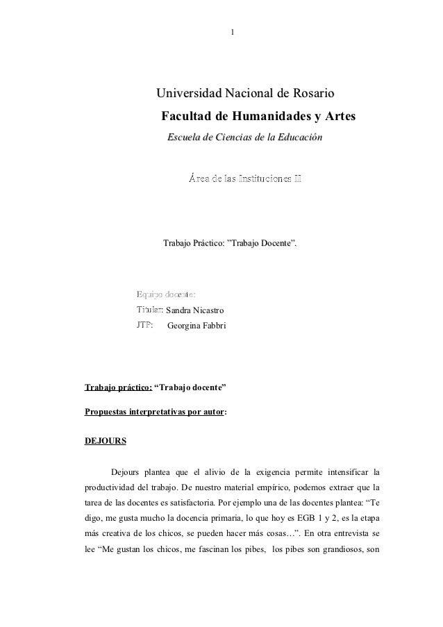 1                     Universidad Nacional de Rosario                     Facultad de Humanidades y Artes                 ...