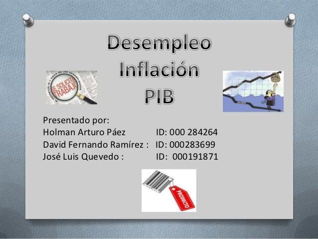 Presentado por:Holman Arturo Páez       ID: 000 284264David Fernando Ramírez : ID: 000283699José Luis Quevedo :      ID: 0...