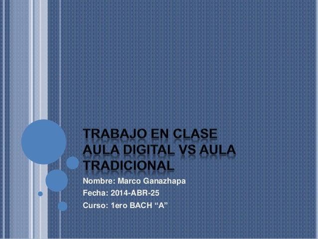 """Nombre: Marco Ganazhapa Fecha: 2014-ABR-25 Curso: 1ero BACH """"A"""""""