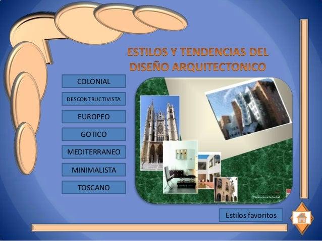 Presentacion estilos arquitectonicos for Estilos arquitectonicos contemporaneos