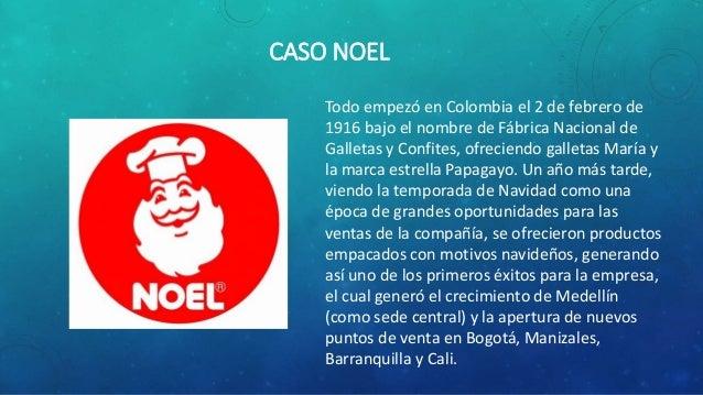 CASO NOEL Todo empezó en Colombia el 2 de febrero de 1916 bajo el nombre de Fábrica Nacional de Galletas y Confites, ofrec...