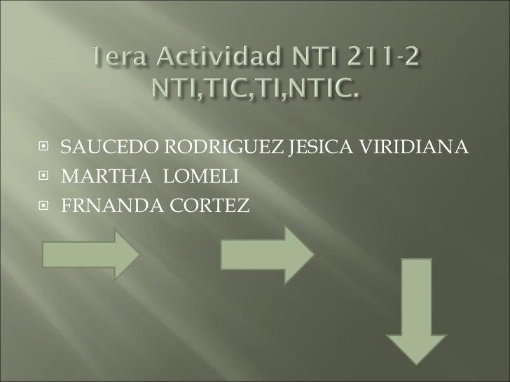 <ul><li>SAUCEDO RODRIGUEZ JESICA VIRIDIANA  </li></ul><ul><li>MARTHA  LOMELI  </li></ul><ul><li>FRNANDA CORTEZ  </li></ul>