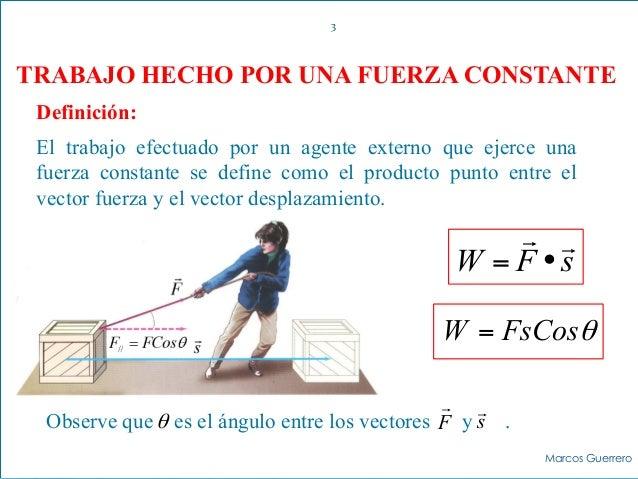Trabajo energ a potencia y rendimiento f sica a for Fuera definicion