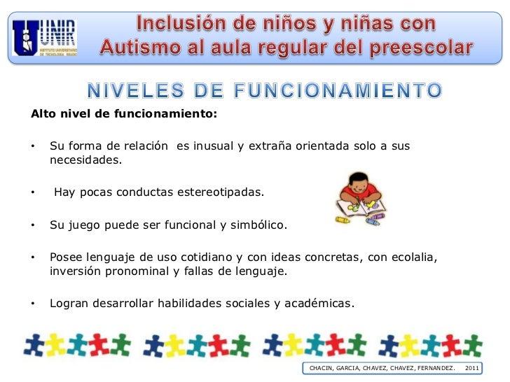 Inclusion De Ninos Y Ninas Con Autismo Al Aula Regular De Preescolar
