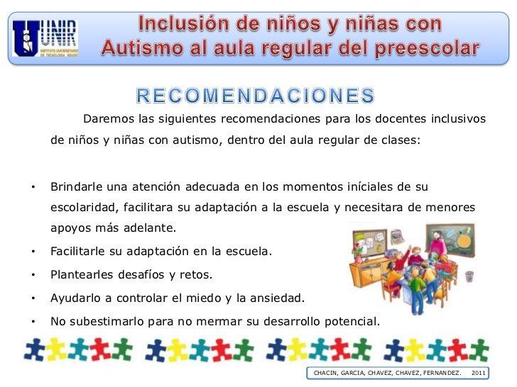 Inclusión De Niños Y Niñas Con Autismo Al Aula Regular De Preescolar