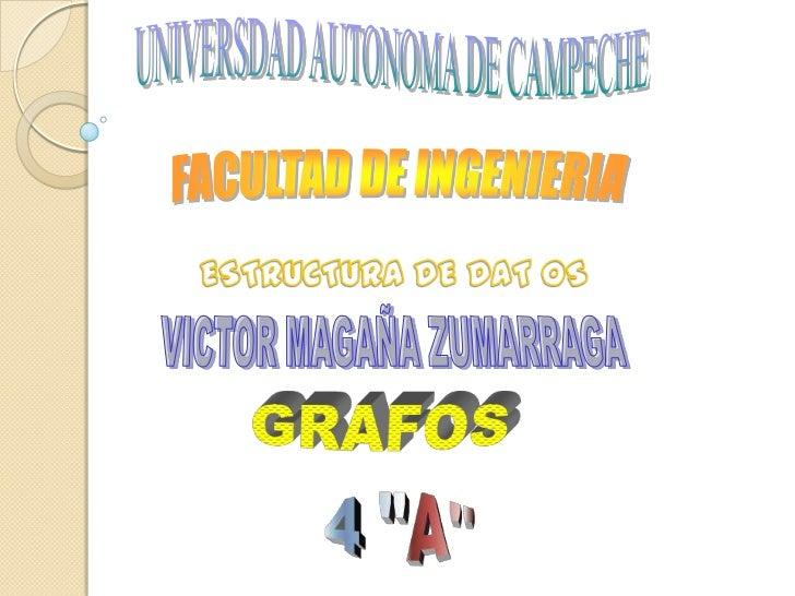 UNIVERSDAD AUTONOMA DE CAMPECHE<br />FACULTAD DE INGENIERIA<br />ESTRUCTURA DE DAT OS<br />VICTOR MAGAÑA ZUMARRAGA<br />GR...