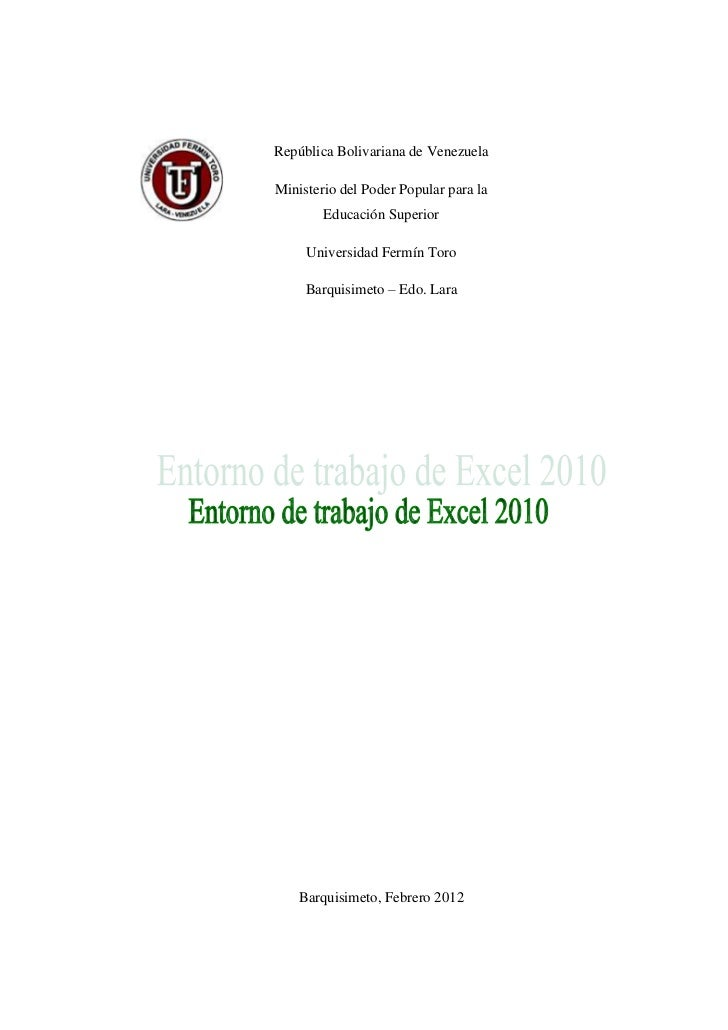 República Bolivariana de VenezuelaMinisterio del Poder Popular para la        Educación Superior     Universidad Fermín To...