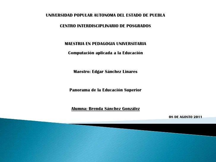 UNIVERSIDAD POPULAR AUTONOMA DEL ESTADO DE PUEBLA  <br />CENTRO INTERDISCIPLINARIO DE POSGRADOS<br />MAESTRIA EN PEDAGOGIA...