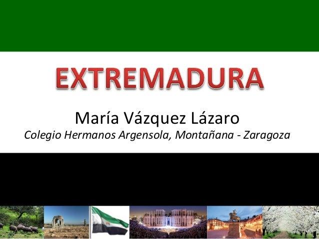 María Vázquez Lázaro Colegio Hermanos Argensola, Montañana - Zaragoza