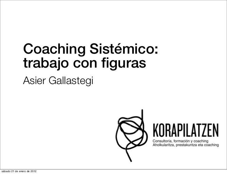 Coaching Sistémico:               trabajo con figuras               Asier Gallastegisábado 21 de enero de 2012