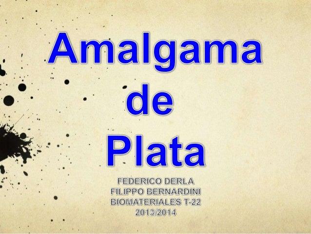 Imagen al microsocpioelectrico de la amalgama en proporción 30/70 Ag /Hg