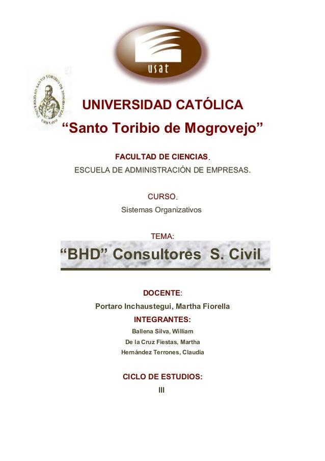 """UNIVERSIDAD CATÓLICA """"Santo Toribio de Mogrovejo"""" FACULTAD DE CIENCIASFACULTAD DE CIENCIAS.. ESCUELA DE ADMINISTRACIÓN DE ..."""