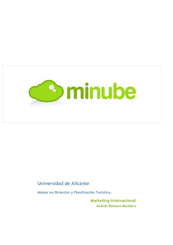 <ul><li>-9423401650365Universidad de AlicanteMáster en Dirección y Planificación Turística. Marketing Internacional Andrés...
