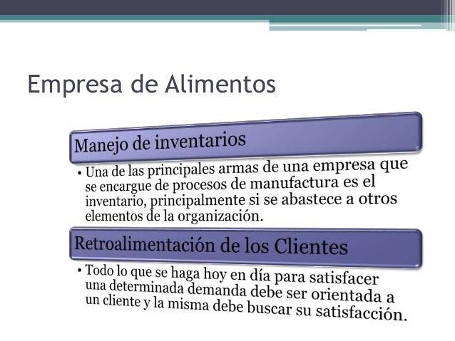 Trabajo final- Análisis y desarrollo para Empresa de Alimentos  Slide 3