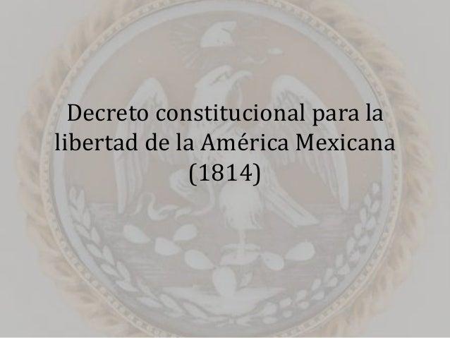 Decreto constitucional para la libertad de la América Mexicana (1814)