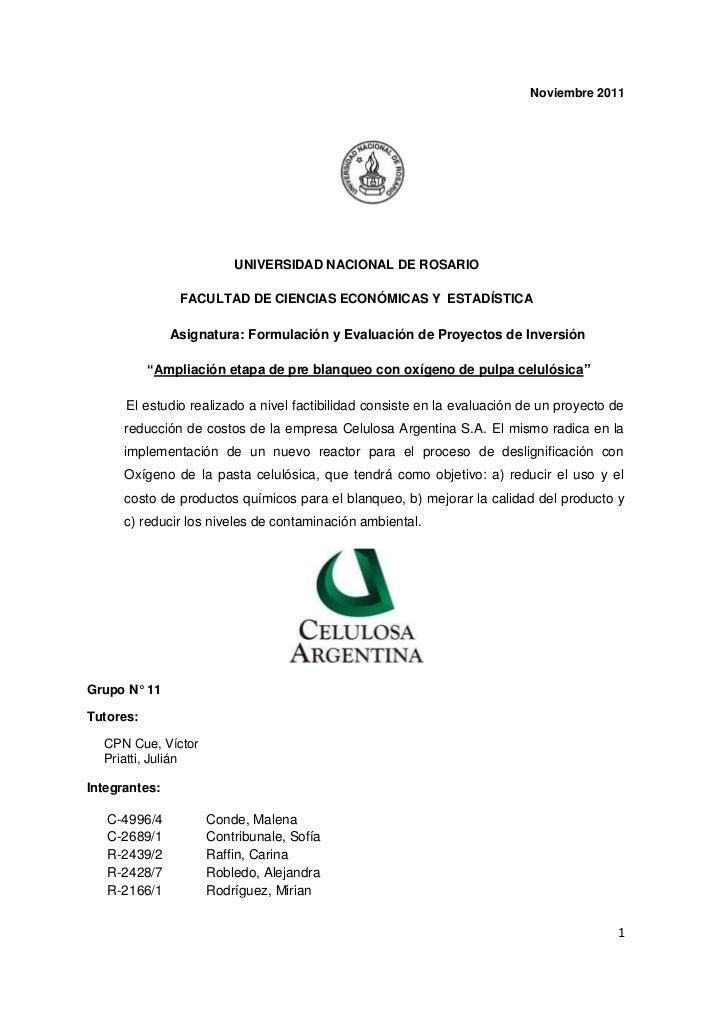 Noviembre 2011                        UNIVERSIDAD NACIONAL DE ROSARIO                FACULTAD DE CIENCIAS ECONÓMICAS Y EST...