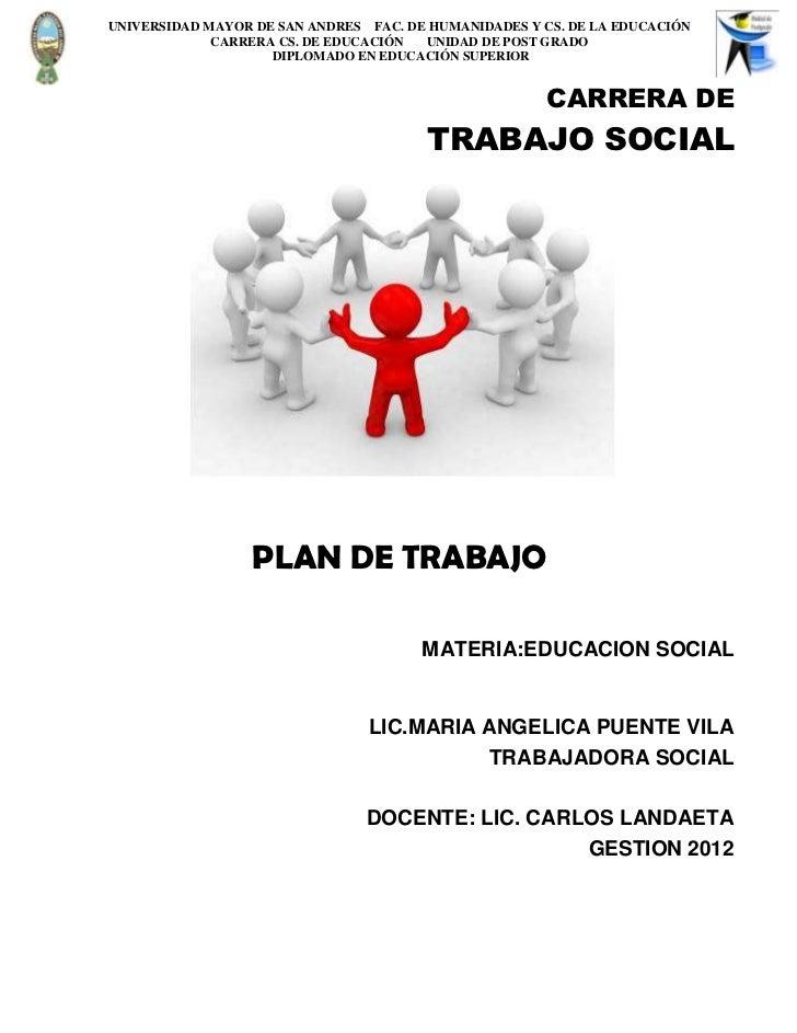 UNIVERSIDAD MAYOR DE SAN ANDRES FAC. DE HUMANIDADES Y CS. DE LA EDUCACIÓN             CARRERA CS. DE EDUCACIÓN  UNIDAD DE ...
