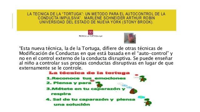"""LA TECNICA DE LA """"TORTUGA"""": UN METODO PARA EL AUTOCONTROL DE LA CONDUCTA IMPULSIVA"""". MARLENE SCHNEIDER ARTHUR ROBIN UNIVER..."""