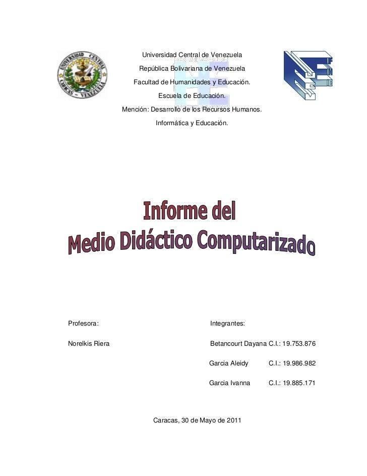 -228600045720000220980095885Universidad Central de Venezuela<br />República Bolivariana de Venezuela <br />Facultad de Hum...