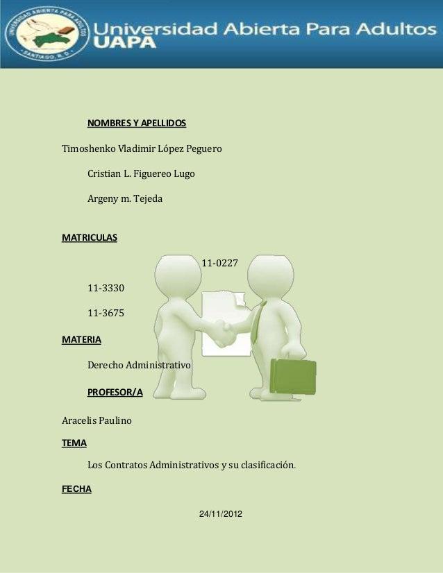 NOMBRES Y APELLIDOSTimoshenko Vladimir López PegueroCristian L. Figuereo LugoArgeny m. TejedaMATRICULAS11-022711-333011-36...