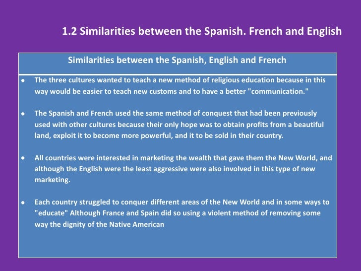 similarities and differences between english and spanish n Mr piccolo's spanish learn with flashcards, games, and more — for free.