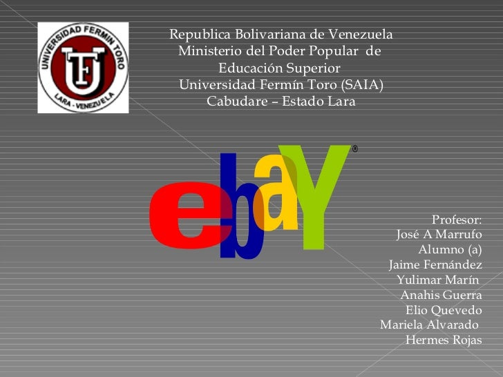 Republica Bolivariana de Venezuela Ministerio del Poder Popular  de  Educación Superior  Universidad Fermín Toro (SAIA) Ca...