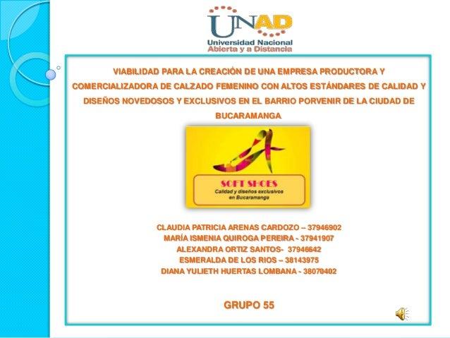 VIABILIDAD PARA LA CREACIÓN DE UNA EMPRESA PRODUCTORA YCOMERCIALIZADORA DE CALZADO FEMENINO CON ALTOS ESTÁNDARES DE CALIDA...