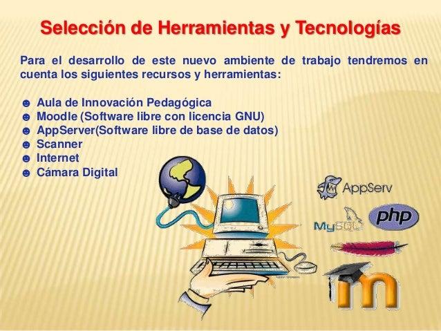 Selección de Herramientas y TecnologíasPara el desarrollo de este nuevo ambiente de trabajo tendremos encuenta los siguien...