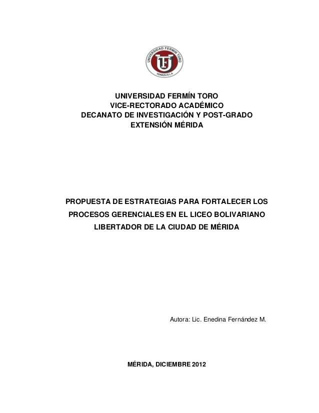 UNIVERSIDAD FERMÍN TORO         VICE-RECTORADO ACADÉMICO   DECANATO DE INVESTIGACIÓN Y POST-GRADO              EXTENSIÓN M...