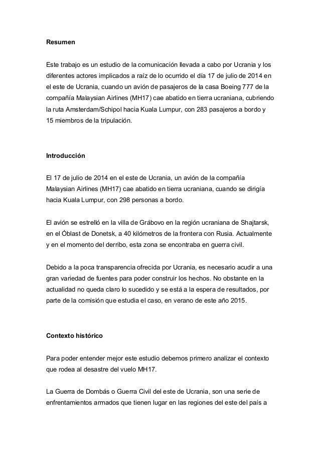Comunicación de crisis, MH17 Slide 3