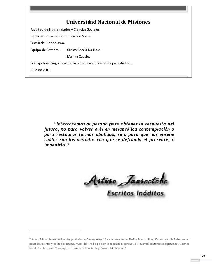 Universidad Nacional de MisionesFacultad de Humanidades y Ciencias SocialesDepartamento de Comunicación SocialTeoría del P...