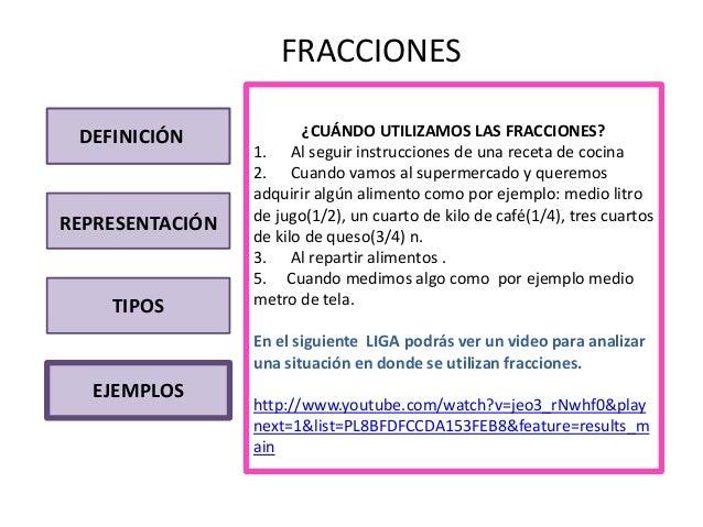 Interactivo fracciones for Definicion de gastronomia