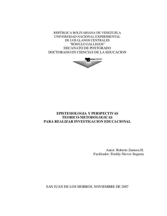 """REPÚBLICA BOLIVARIANA DE VENEZUELA UNIVERSIDAD NACIONAL EXPERIMENTAL DE LOS LLANOS CENTRALES """"RÓMULO GALLEGOS"""" DECANATO DE..."""