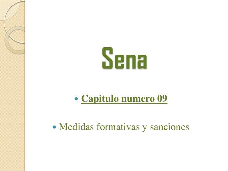 Sena <br /><ul><li>Capitulo numero 09