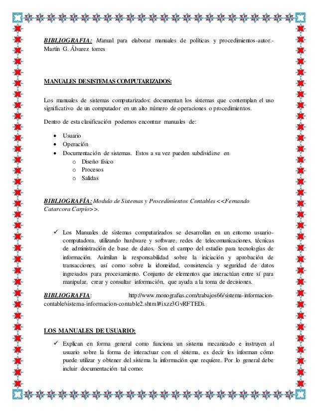 Manual de procedimientos contables jornada soluciones gerenciales.