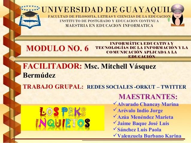 UNIVERSIDAD DE GUAYAQUIL       FACULTAD DE FILOSOFIA, LETRAS Y CIENCIAS DE LA EDUCACION            INSTITUTO DE POSTGRADO ...