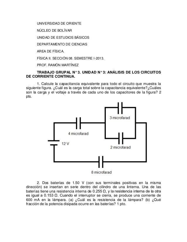 UNIVERSIDAD DE ORIENTE NÚCLEO DE BOLÍVAR UNIDAD DE ESTUDIOS BÁSICOS DEPARTAMENTO DE CIENCIAS AREA DE FÍSICA. FÍSICA II. SE...