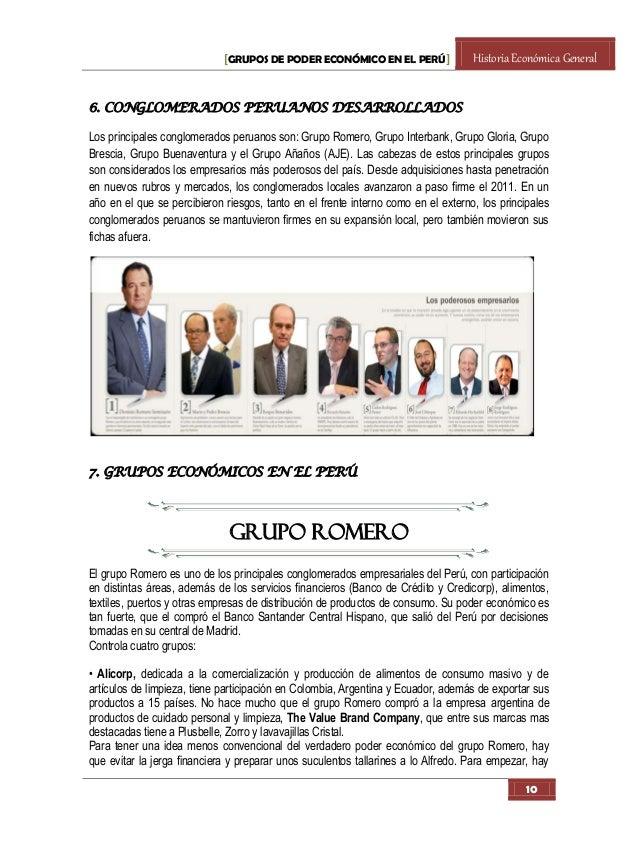 Grupos de poder economico en el Peru