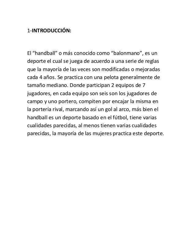 Trabajo handball