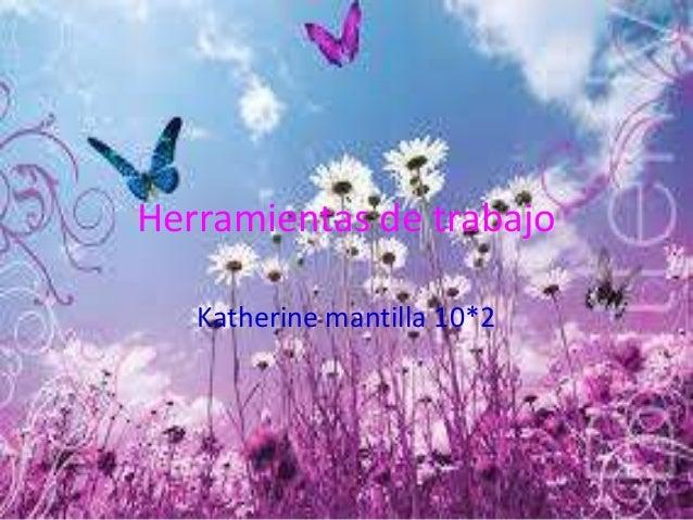Herramientas de trabajo Katherine mantilla 10*2