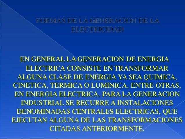 Historia De La Energia Electrica