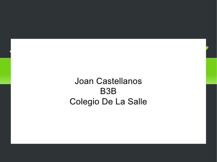Medios de transporte Joan Castellanos B3B Colegio De La Salle