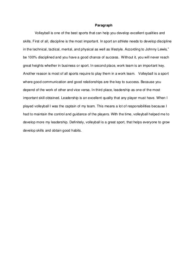 qualities of a good athlete essay