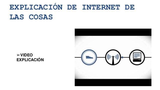 EXPLICACIÓN DE INTERNET DE LAS COSAS ➢VIDEO EXPLICACIÓN