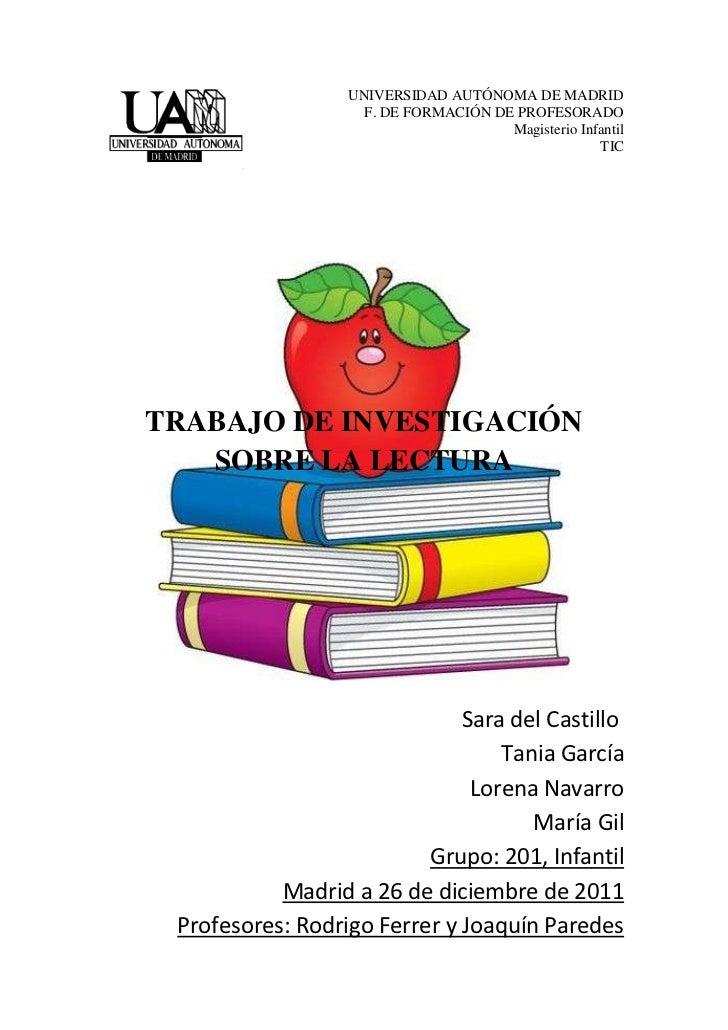 UNIVERSIDAD AUTÓNOMA DE MADRID                    F. DE FORMACIÓN DE PROFESORADO                                      Magi...